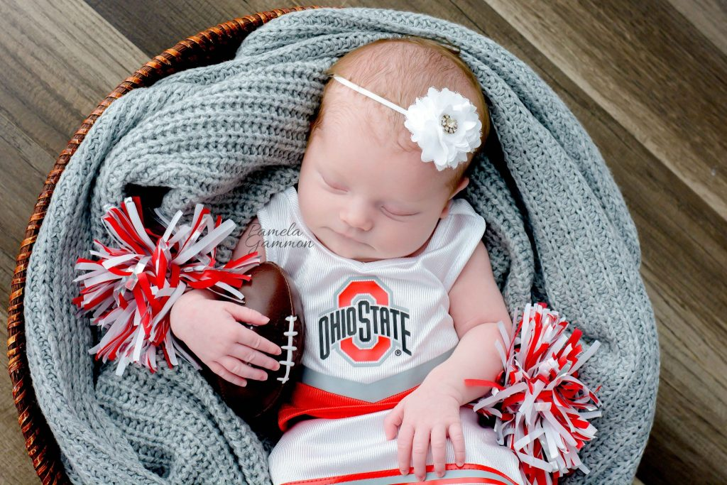 Ohio newborn football photography baby