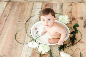 Baby Boy Milk Bath