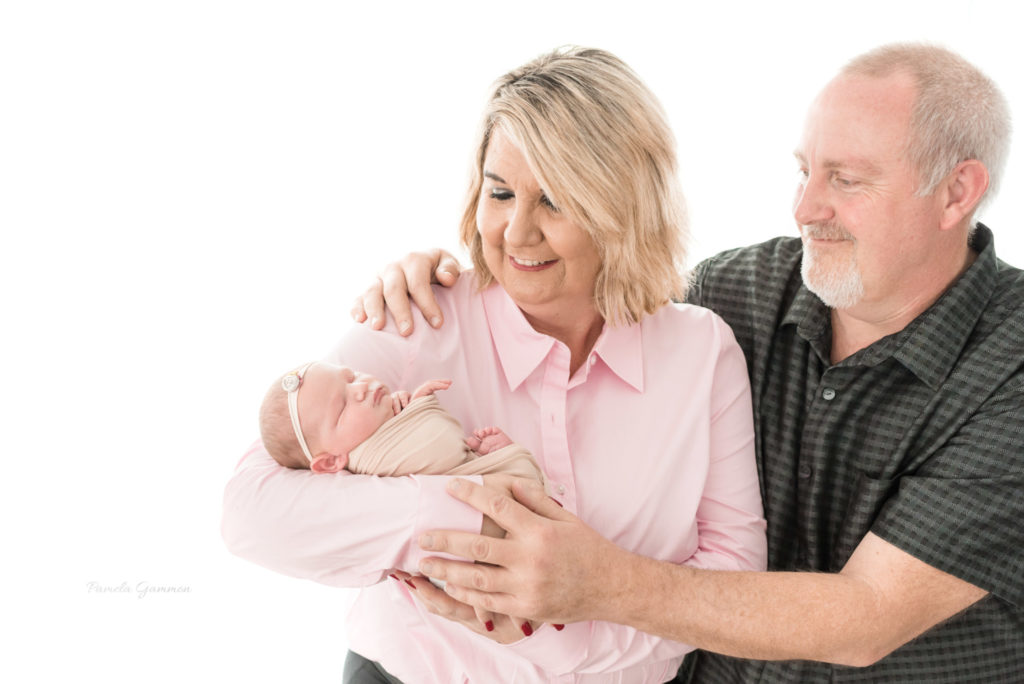 Newborn Photography with Grandparents