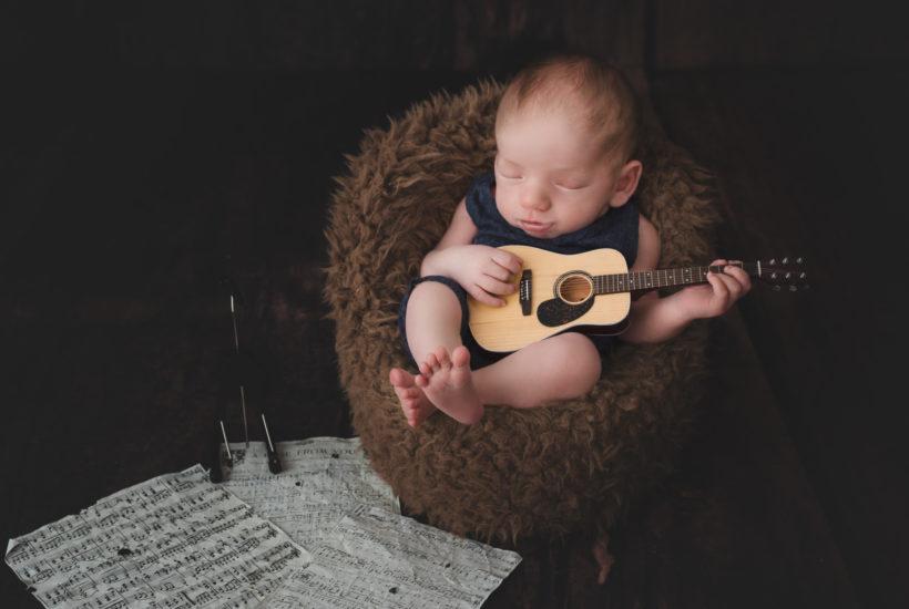 Newborn Session Ashland KY   Brentley's Guitar Imagination Session